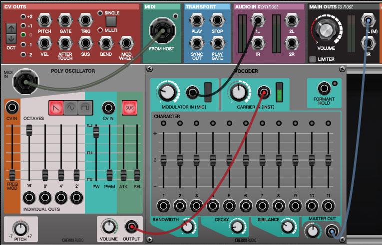 Vocoder | Cherry Audio Documentation